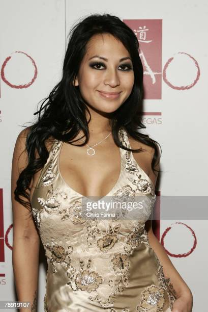 Actress Gianna Lynn arrives at a naughty night to remember at TAO Nightclub at The Venetian Hotel and Casino Resort on January 12 2008 in Las Vegas...