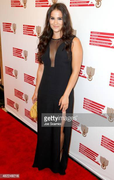 Actress Gianna Simone attends American Friends Of The Israel Philharmonic Orchestra Benefit Honoring Hans Zimmer at Wallis Annenberg Center for the...