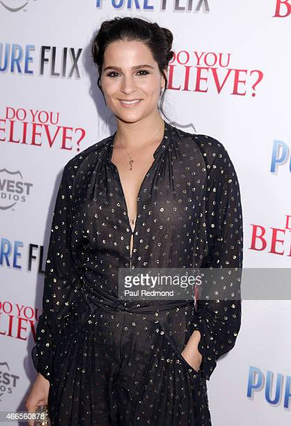 Actress Gianna Simone attends 'Do You Believe' Los Angeles Premiere at ArcLight Hollywood on March 16 2015 in Hollywood California