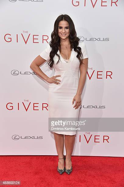 Actress Gianna Simone attends The Giver premiere at Ziegfeld Theater on August 11 2014 in New York City