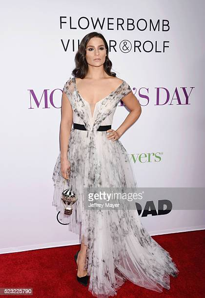 Actress Gianna Simone attends the Open Roads World Premiere of 'Mother's Day' at the TCL Chinese Theatre IMAX on April 13 2016 in Hollywood...