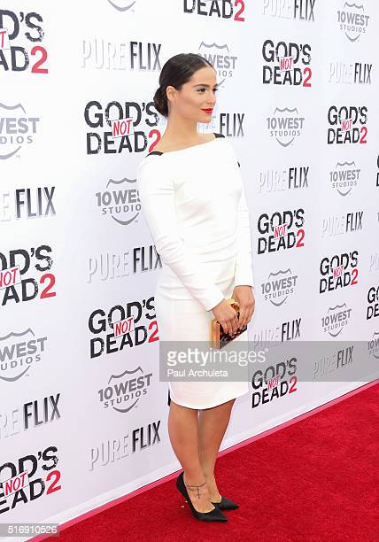 Actress Gianna Simone attends the premiere of 'God's Not Dead 2' at Directors Guild Of America on March 21 2016 in Los Angeles California
