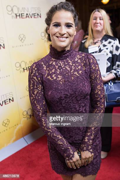Actress Gianne Simone attends '90 Minutes In Heaven' Atlanta premiere at Fox Theater on September 1 2015 in Atlanta Georgia
