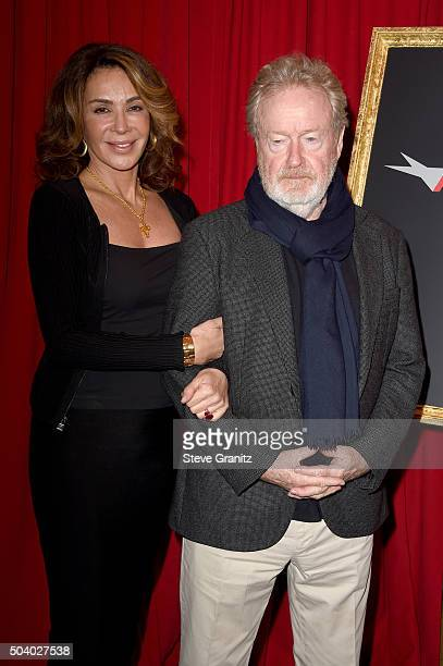 Actress Giannina Facio and director Ridley Scott attend the 16th Annual AFI Awards at Four Seasons Hotel Los Angeles at Beverly Hills on January 8,...