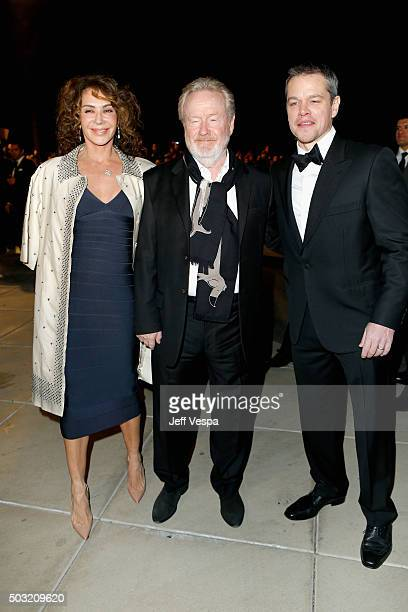 Actress Giannina Facio, director Ridley Scott and actor Matt Damon attend the 27th Annual Palm Springs International Film Festival Awards Gala at...