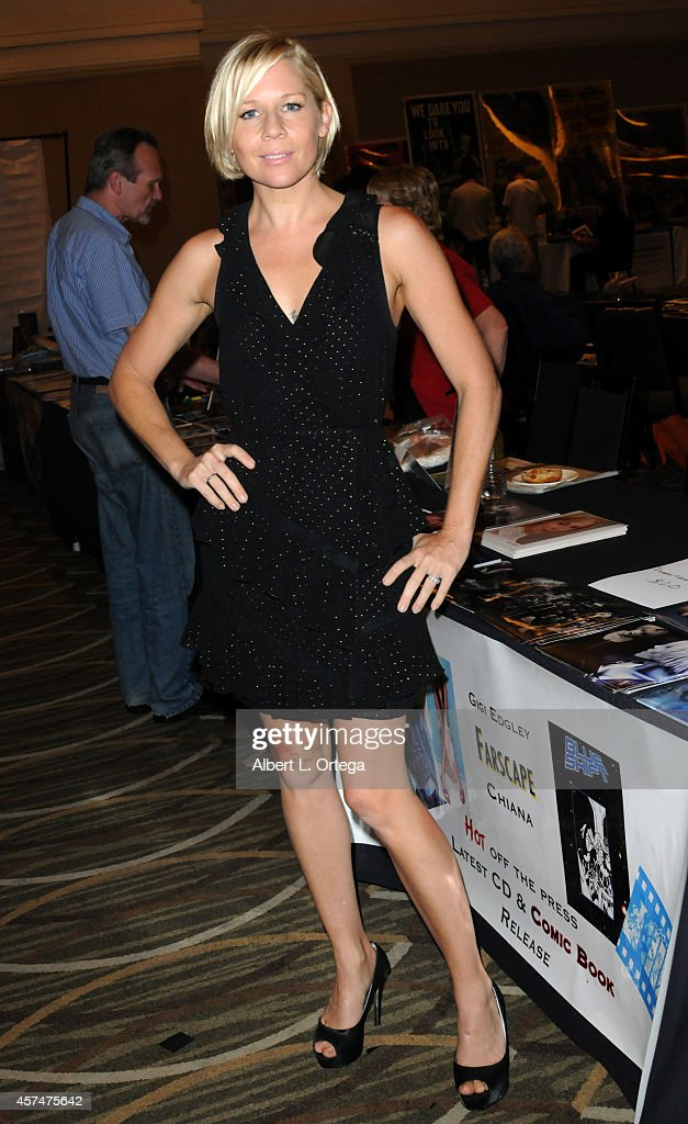 Actress Gigi Edgley at The Hollywood Show held at Westin LAX Hotel on October 18, 2014 in Los Angeles, California.