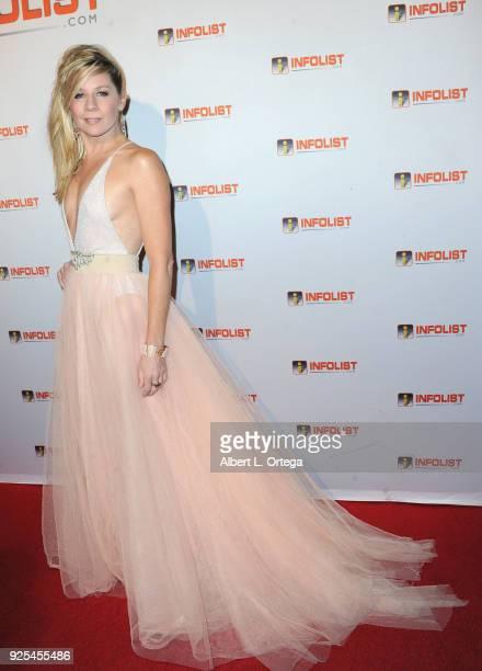 Actress Gigi Edgley attends the INFOListcom's PreOscar Soiree and Jeff Gund Birthday Party held at Mondrian Sky Bar on February 27 2018 in West...