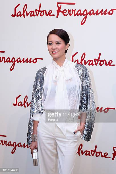 Actress Gigi Leung arrives at the Salvatore Ferragamo Spring Summer show at the Ullens Centre for Contemporary Art on November 5 2011 in Beijing China