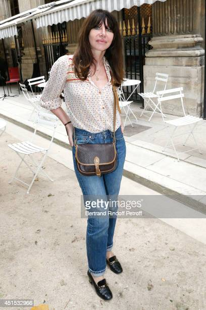Actress Gil Lesage attends the 'Qeelin' high Jewellery Exhibition opening Cocktail 'Mogoaku in Paris' at Jardin du Palais Royal on June 30 2014 in...