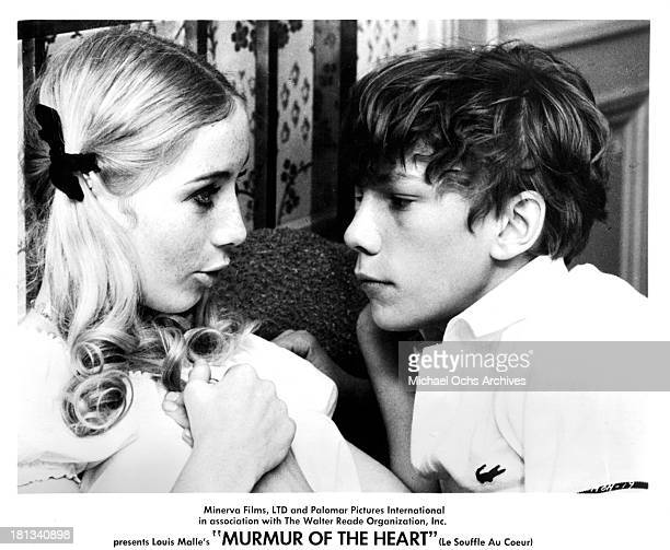 """Actress Gila von Weitershausen and actor Benoet Ferreux on set of the movie """"Murmur of the Heart"""" in 1971."""