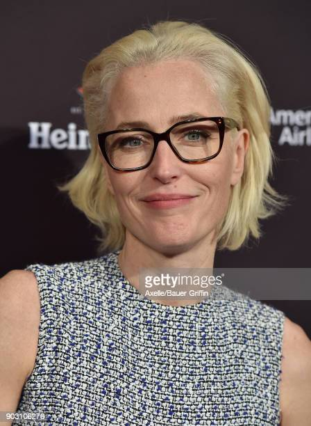 Actress Gillian Anderson arrives at The BAFTA Los Angeles Tea Party at Four Seasons Hotel Los Angeles at Beverly Hills on January 6 2018 in Los...