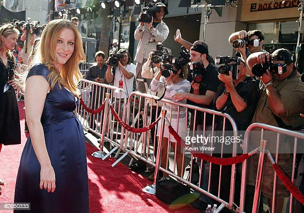 Actress Gillian Anderson arrives at the world premiere of 20th Century Fox's 'The XFiles I Want To Believe' at the Chinese Theater on July 23 2008 in...