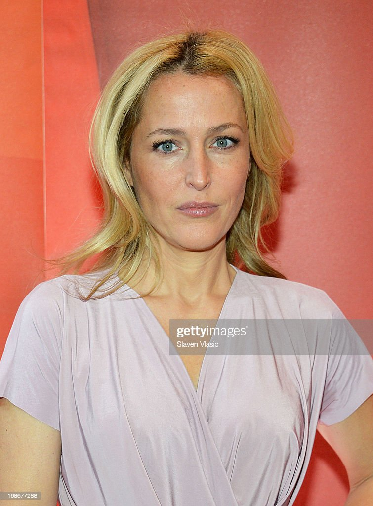 Actress Gillian Anderson attends 2013 NBC Upfront Presentation Red Carpet Event at Radio City Music Hall on May 13, 2013 in New York City.