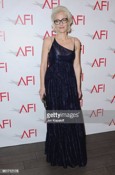 Actress Gillian Anderson attends the 18th Annual AFI Awards at the Four Seasons Hotel on January 5 2018 in Los Angeles California