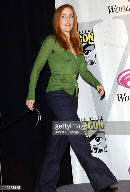 Actress Gillian Anderson attends the 2008 Wonder Con day 2 at the Moscone Center South on February 23 2008 in San Francisco California