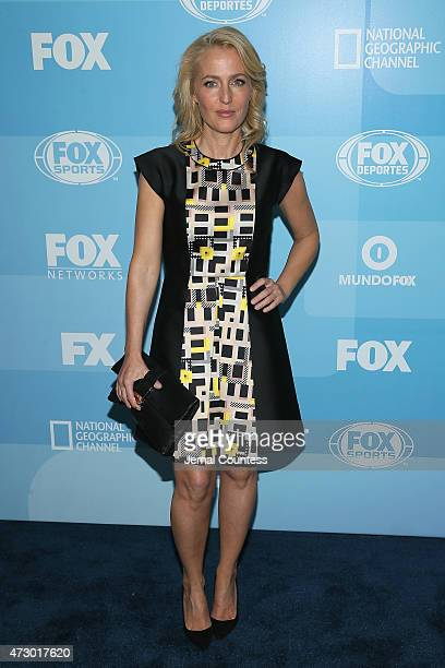Actress Gillian Anderson attends the 2015 FOX programming presentation at Wollman Rink in Central Park on May 11 2015 in New York City