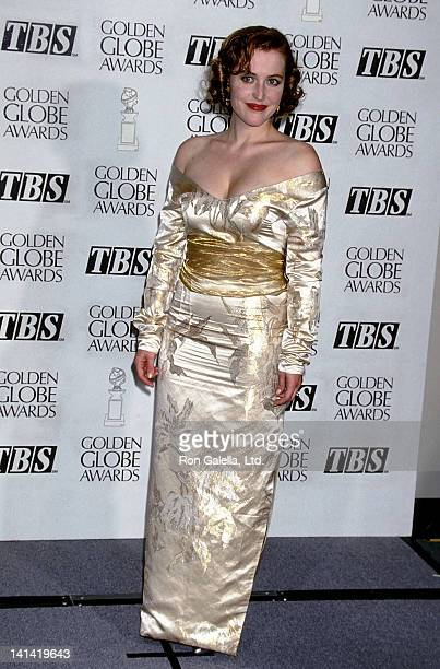 Actress Gillian Anderson attends the 52nd Annual Golden Globe Awards on January 21 1995 at the Beverly Hilton Hotel in Beverly Hills California