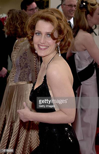 Actress Gillian Anderson attends the 58th Annual Golden Globe Awards held at the Beverly Hills Hotel January 21 2001 in Beverly Hills CA