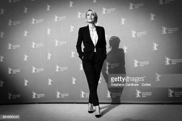 Actress Gillian Anderson attends the 'Viceroy's House' photo call during the 67th Berlinale International Film Festival Berlin at Grand Hyatt Hotel...