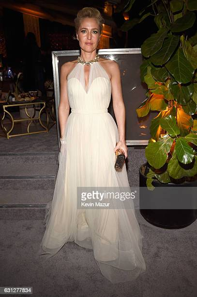 Actress Gillian Anderson attends The Weinstein Company and Netflix Golden Globe Party, presented with FIJI Water, Grey Goose Vodka, Lindt Chocolate,...