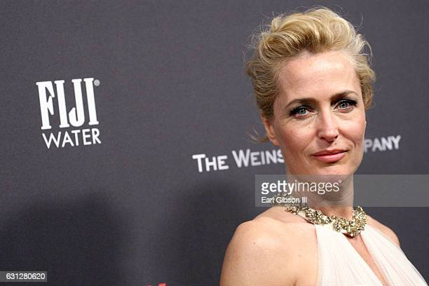 Actress Gillian Anderson attends The Weinstein Company and Netflix Golden Globe Party presented with FIJI Water Grey Goose Vodka Lindt Chocolate and...