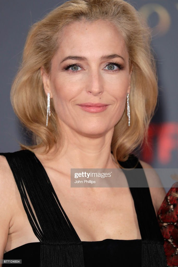 Actress Gillian Anderson attends the World Premiere of season 2 of Netflix 'The Crown' at Odeon Leicester Square on November 21, 2017 in London, England.