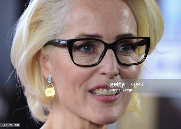 Actress Gillian Anderson is honored with a star on the Hollywood Walk of Fame on January 8 2018 in Hollywood California
