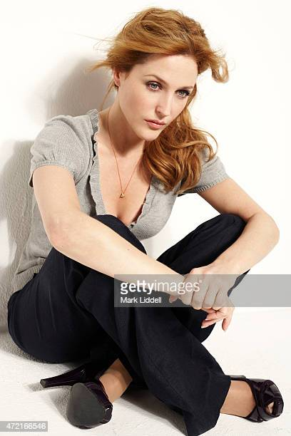 Actress Gillian Anderson is photographed for 20th Century Fox Press Shoot on June 1 2008 in Los Angeles California