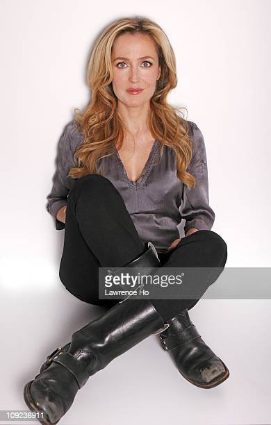 Actress Gillian Anderson is photographed for Los Angeles Times in West Hollywood California PUBLISHED IMAGE CREDIT MUST READ Lawrence Ho/Contour by...