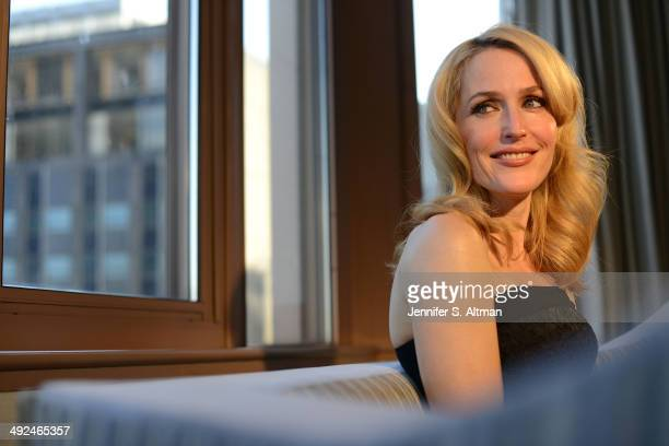 Actress Gillian Anderson is photographed for Los Angeles Times on March 14 2014 in New York City PUBLISHED IMAGE
