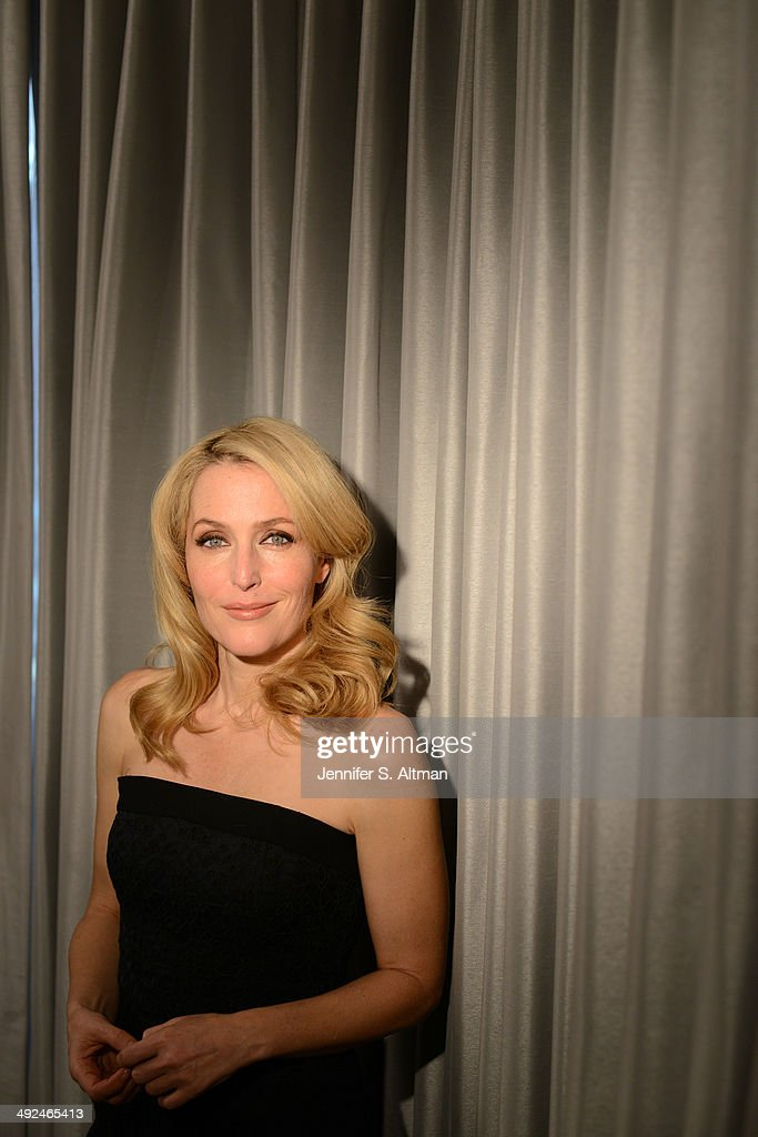 Actress Gillian Anderson is photographed for Los Angeles Times on March 14, 2014 in New York City.