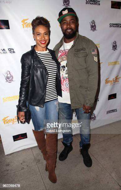 Actress Gillian Iliana Waters and husband actor Michael Jai White attend the premiere of Comedy Dynamics' The Fury of the Fist and the Golden Fleece...