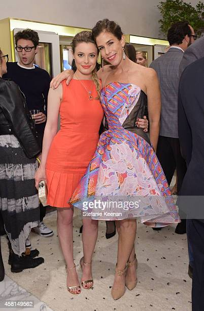 Actress Gillian Jacobs and jewelry designer Irene Neuwirth attend the Irene Neuwirth Flagship Grand Opening on October 30 2014 in West Hollywood...