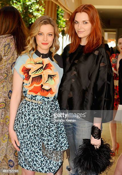 Actress Gillian Jacobs and Public Relations Director of Etro Carrie Crecca attend Vogue Lunch In Celebration Of The Etro Spring Collection Hosted By...