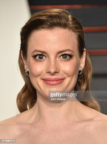 Actress Gillian Jacobs arrives at the 2016 Vanity Fair Oscar Party Hosted By Graydon Carter at Wallis Annenberg Center for the Performing Arts on...