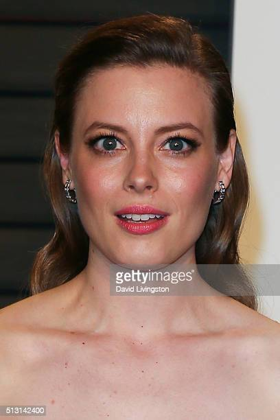 Actress Gillian Jacobs arrives at the 2016 Vanity Fair Oscar Party Hosted by Graydon Carter at the Wallis Annenberg Center for the Performing Arts on...