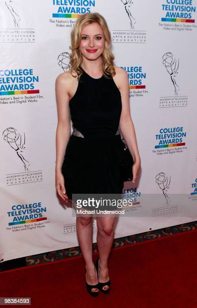 Actress Gillian Jacobs arrives at the 31st Annual College Television Awards hosted by the Academy of Television Arts and Sciences held at the...