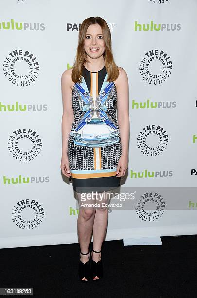 Actress Gillian Jacobs arrives at the William S Paley Television Festival featuring 'Community' at the Saban Theatre on March 5 2013 in Beverly Hills...