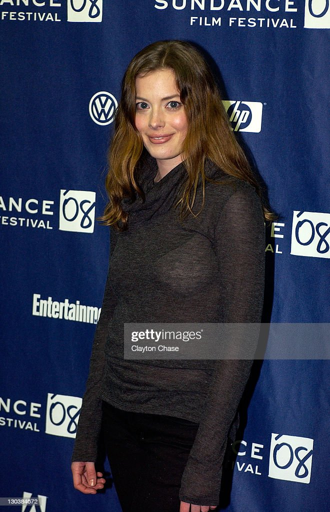 Actress Gillian Jacobs attends a screening of 'Choke' at the Racquet Club Theatre during 2008 Sundance Film Festival on January 21, 2008 in Park City, Utah.