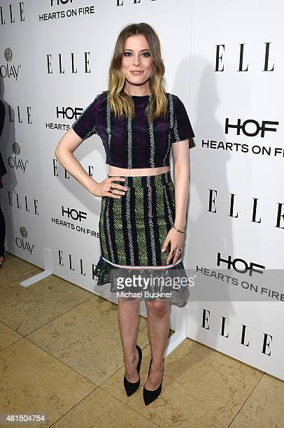 Actress Gillian Jacobs attends ELLE's Annual Women in Television Celebration on January 13 2015 at Sunset Tower in West Hollywood California...