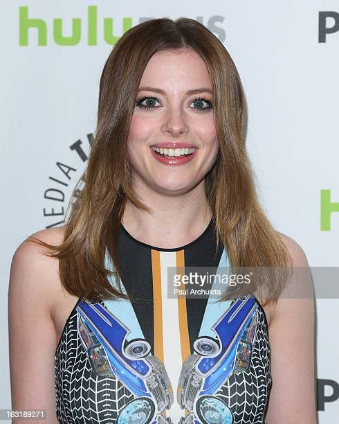 Actress Gillian Jacobs attends the 30th annual PaleyFest featuring the cast of 'Community' at the Saban Theatre on March 5 2013 in Beverly Hills...