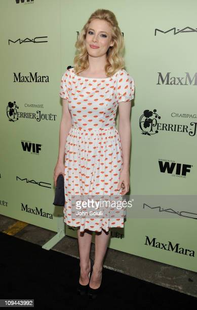 Actress Gillian Jacobs attends the Fourth Annual Women In Film PreOscar Cocktail Party Presented by PerrierJouet at Soho House on February 25 2011 in...