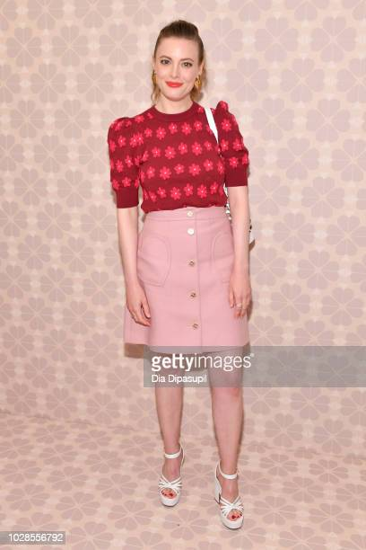 Actress Gillian Jacobs attends the Kate Spade New York Fashion Show during New York Fashion Week at New York Public Library on September 7 2018 in...