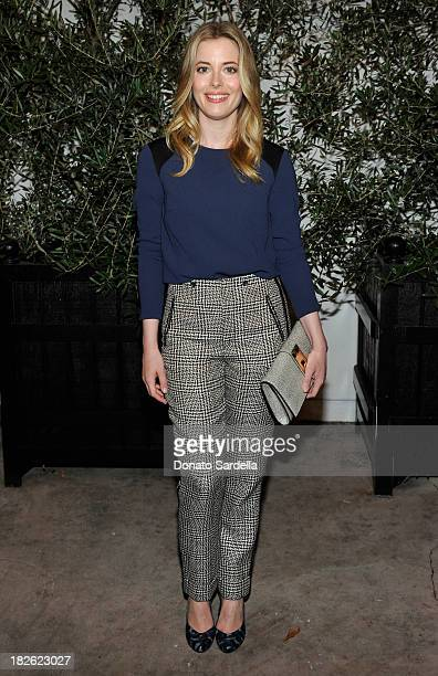 Actress Gillian Jacobs attends the opening of Stacey Todd West Hollywood with Stacey Todd and rag bone at Stacey Todd on October 1 2013 in Los...