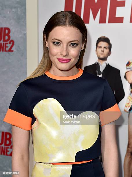 Actress Gillian Jacobs attends the premiere of Paramount Pictures' Hot Tub Time Machine 2 at Regency Village Theatre on February 18 2015 in Westwood...