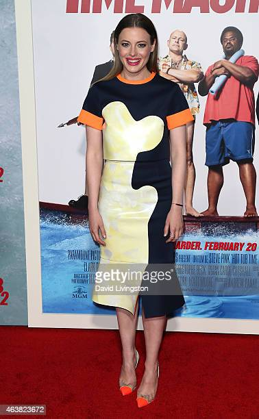 Actress Gillian Jacobs attends the premiere of Paramount Pictures' Hot Tub Time Machine 2 at the Regency Village Theatre on February 18 2015 in...