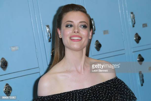 Actress Gillian Jacobs attends the Screening Of A24's 'Eighth Grade' Arrivals at Le Conte Middle School on July 11 2018 in Los Angeles California