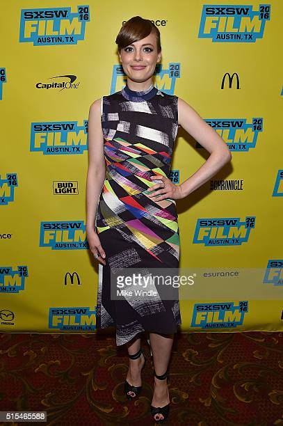 Actress Gillian Jacobs attends the screening of 'Don't Think Twice' during the 2016 SXSW Music Film Interactive Festival at Paramount Theatre on...