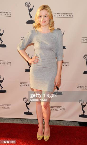Actress Gillian Jacobs attends the Television Academy's Diversity Committee Presents Night School With Community at Leonard H Goldenson Theatre on...