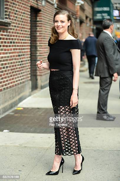 Actress Gillian Jacobs enters 'The Late Show With Stephen Colbert' taping at the Ed Sullivan Theater on May 18 2016 in New York City